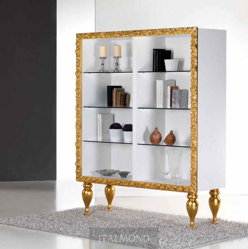 Библиотека, отделка золото.